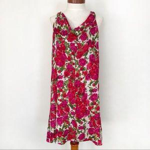 Velvet Brand Silk Floral Dress Roses